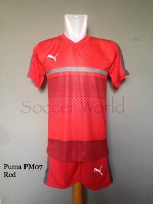 Baju Kaos Olahraga Jersey Bola Setelan Futsal Puma PM07 Red