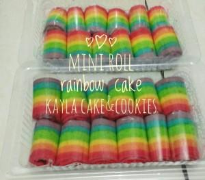 Jual mini roll rainbow cake/rainbow cake gulung/mini cake ...