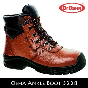 Sepatu Safety Shoes Dr OSHA Osha Ankle Boot 3228 Coklat Brown