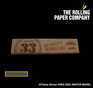 33Tabac BROWN UNBLEACHED - KING SIZE SLIM Rolling Paper Papir Linting