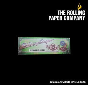33 Tabac AVIATOR SINGLE SIZE Rolling Paper Papir Kertas Linting Rokok