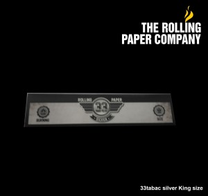 33Tabac SILVER - KING SIZE SLIM Paper Papir Kertas Linting Rokok