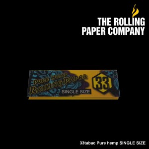 33Tabac PURE HEMP - SINGLE Rolling Paper Papir Kertas Linting Herbal