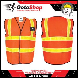 Rompi Polyester PVC Orange Polyster Polister Safety Vest Rompi Proyek