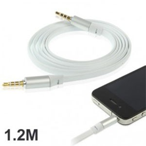 Noodle Style Aux Audio Cable 3.5mm Jack Earphone Cable 1.2m