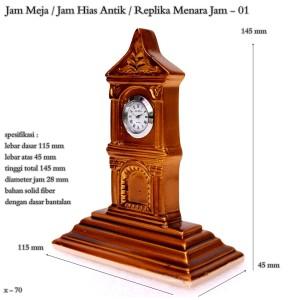 jam hias antik / replika menara jam / jam mini / pajangan meja 01