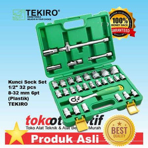 "Kunci Sock Set 1/2"" 32 pcs 8-32 mm 6pt"