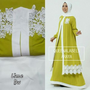 Gamis / Pashmina / Original Branded ARAYA By QUEENALABELS