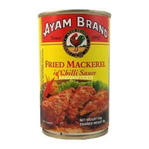 Makarel Goreng Pedas Kalengan Ayam Brand Mackerel in Chilli Sauce 155g