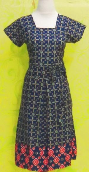 Dress Batik SOPHIA BIRU ^^