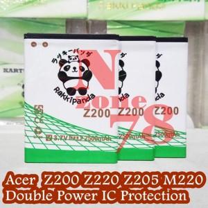 Baterai Acer Z200 Z205 Z220 M220 Rakkipanda Double Power Protection