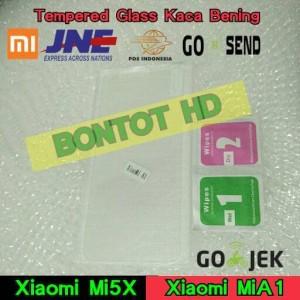Tempered Glass Anti Gores Kaca Bening Hp Xiaomi Mi 5X Mi A1 MiA1 Mi5X