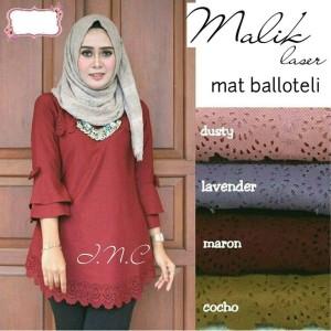 Fashion Wanita/ Blus Muslim Malik Laser/ Simple Ootd