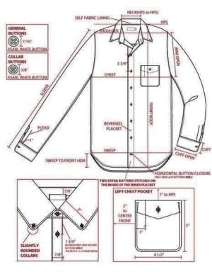 jasa jahit kemeja shirt  terima konveksi murah custom chambray denim