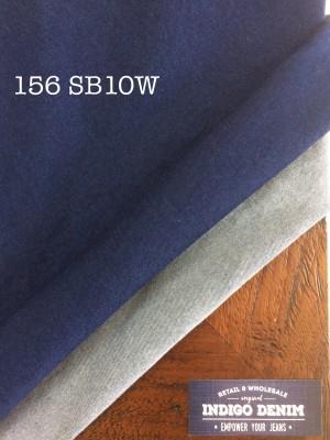 156 Denim Blue Stretch Lembut 10 oz Washed Bahan Celana wanita