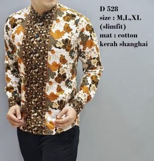 Kemeja  Pria / Baju  Batik  Slimfit / Baju Pesta / Baju Keluarga D528