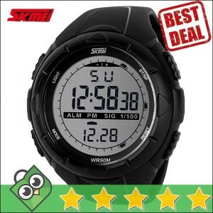 Jam Tangan Pria LED SKMEI S-Shock Sport Watch Original DG1025