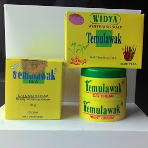 CREAM TEMULAWAK SUPER ORIGINAL paket cream siang malam  +sabun
