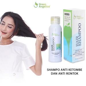 Green angelica hair shampo, shampo untuk rambut rontok