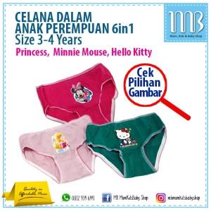 Celana Dalam Anak Perempuan 3-4T (isi 6pcs)