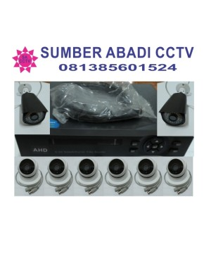 PAKET CCTV 8 CHANNEL AHD 2 MP SIAP PASANG