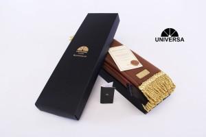 Sajadah Kepala Cokelat (S) - Sajadah Polos Bulu Rumbai Kulit UNIVERSA