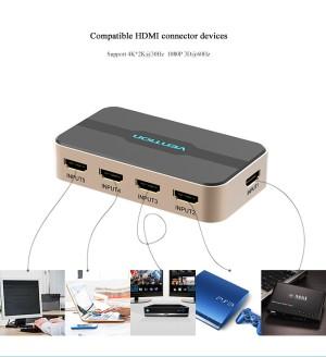 HDMI Splitter Switcher Vention 5 in 1 IR Wireless Remote Original