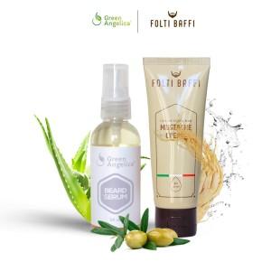 Paket Cream dan Serum Penumbuh Brewok dan Kumis Folti Baffi