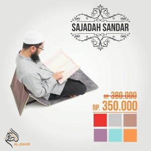 BEST SELLER - Sajadah Sandar Duduk Premium Beludru Al Zahir