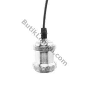Fiting Kabel Lampu Gantung Edison Retro Hias Silver Satin