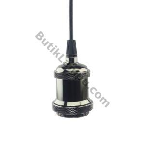 Fiting Kabel Lampu Gantung Edison Retro Hias Black