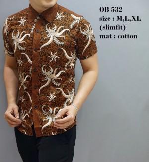 Kemeja Batik  / Baju   Modern Pria / Baju Pendek / Atasan Pria OB532
