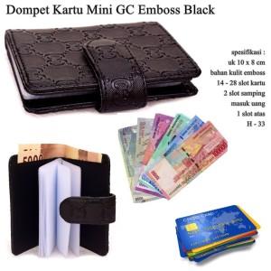 Obral Dompet Kartu Mini GC Emboss black