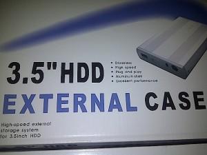 """Case Hardisk Enclousure 3,5"""" CPU K-One Murah Handal Kualitas Terjamin"""