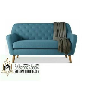 Kursi Sofa Tamu Retro Biru