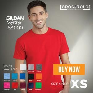 kaos polos gildan softstyle original murah ukuran XS OVERSTOCKK
