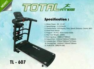 Treadmill electric tl-607 total fitness