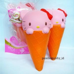 Squishy Jumbo Ice Cream Hello Kitty Slow Rising - Squishy Es Krim