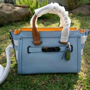 Coach Swagger hand bag leather tote bag tas wanita shoulder bag