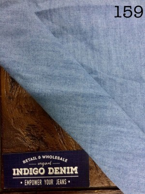159 - Chambray Light Blue Tipis Bahan Kain Kemeja