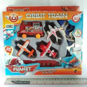 mainan kereta motif planes