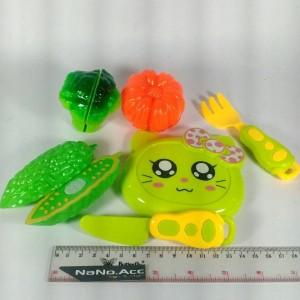 mainan sayur plastik berkualitas, bisa dipotong