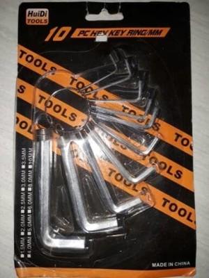 Kunci L 10 Pcs / Hex Key Ring 10 Pcs