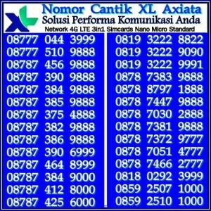 Xl Axiata Nomor Cantik 0818 062 18999 Daftar Harga terbaik Source · Kartu Perdana Nomor Cantik