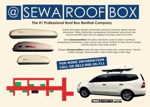 Jual Roof Box Thule Hapro Whale Carrier Roofbox Sewa