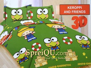 Sprei Bonita 3D King Keroppi And Friends 180x200