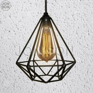 Kap Lampu Gantung Diamond Industrial Besi Cafe Vintage Edison Hias
