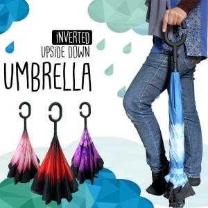 Payung Terbalik Otomatis Terbuka Ecer dan Grosir