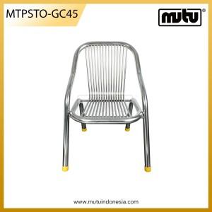 Kursi Nyaman Kafe Stainless Steel - MTPSTO-GD45