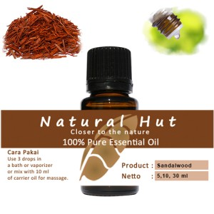 100% PURE ESSENTIAL OIL (SANDALWOOD - CENDANA) - 5ml